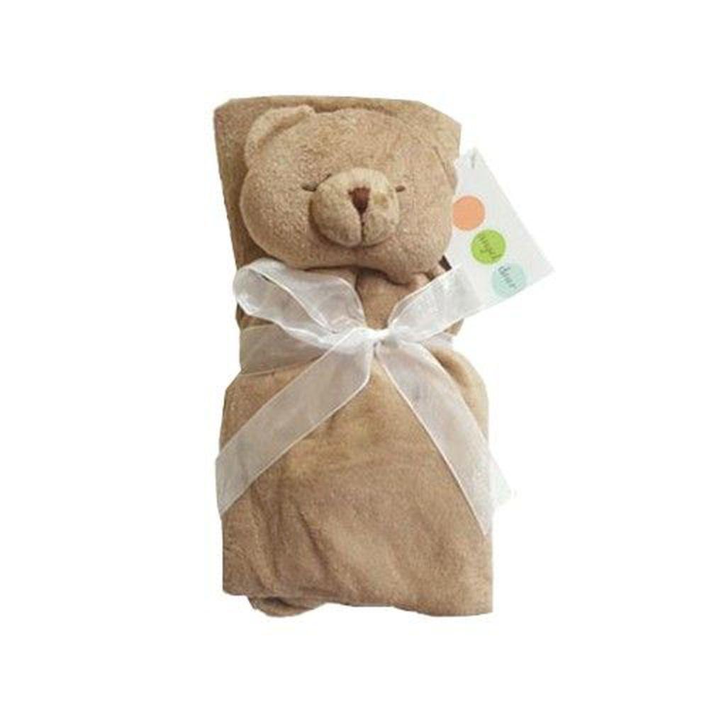 美國 Angel Dear - 動物嬰兒安撫毛毯-棕色熊熊