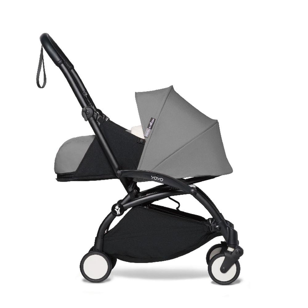 法國BABYZEN - YOYO² 嬰兒手推車0+-黑管-灰-0m+