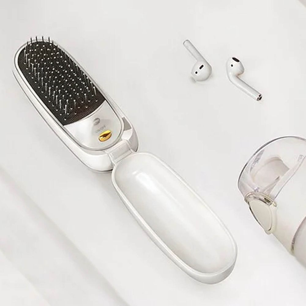 KOIZUMI 小泉成器 - 負離子音波磁氣美髮梳(充電式)-白-KBE-G500