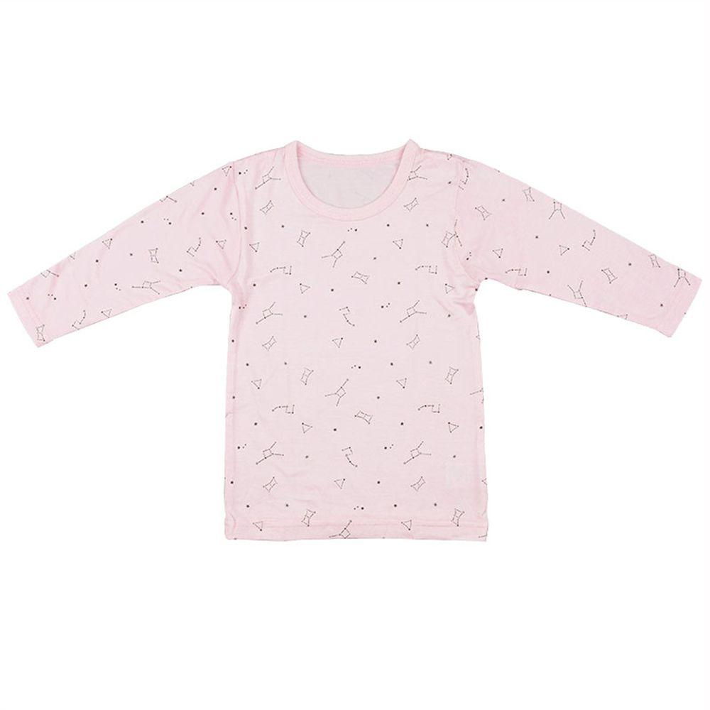 akachan honpo - 長袖圓領上衣-星座-粉紅色