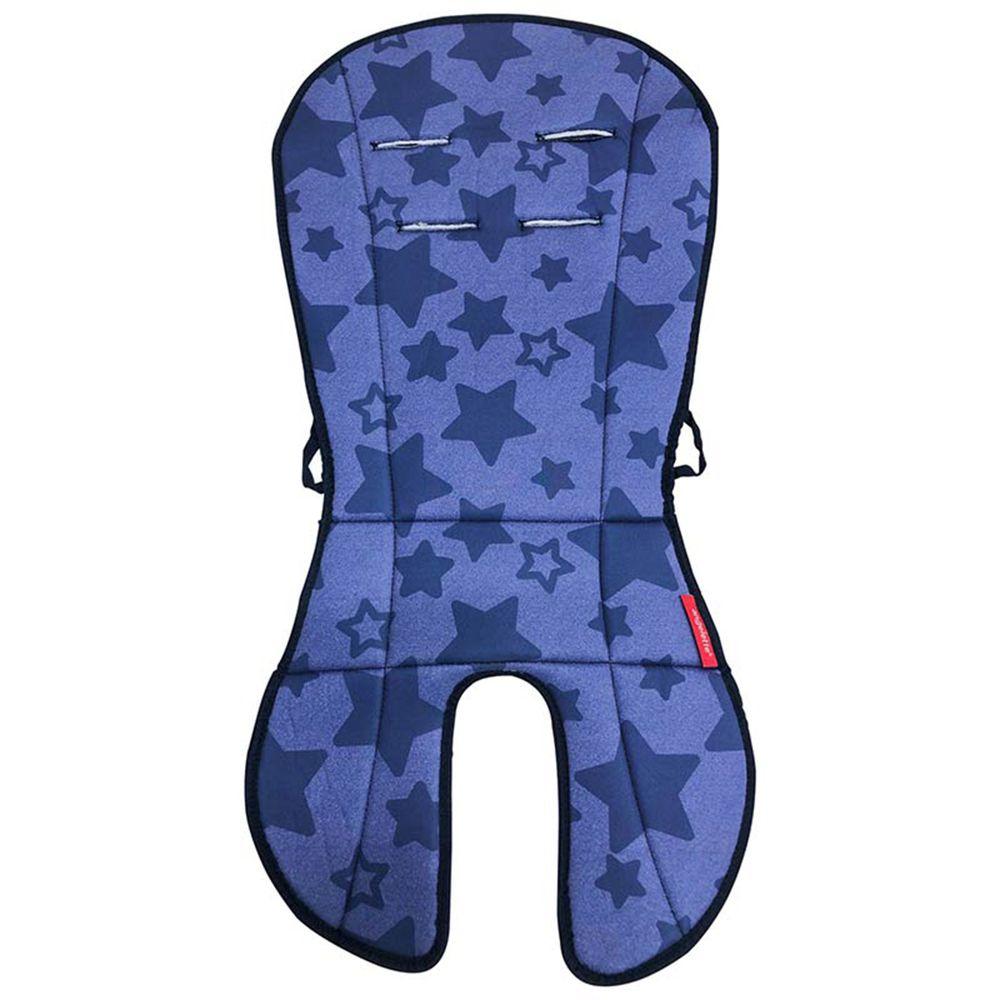 akachan honpo - angelette雙面嬰兒推車坐墊-深藍色 (約36×74cmcm)