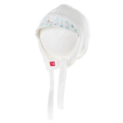 有機棉嬰兒帽-愛心小樹-淺綠 (0-6m)