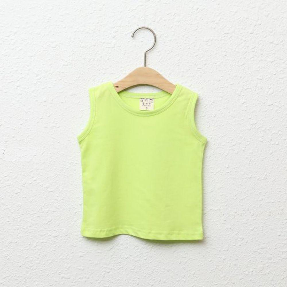 韓國製 - 純棉小背心-亮綠