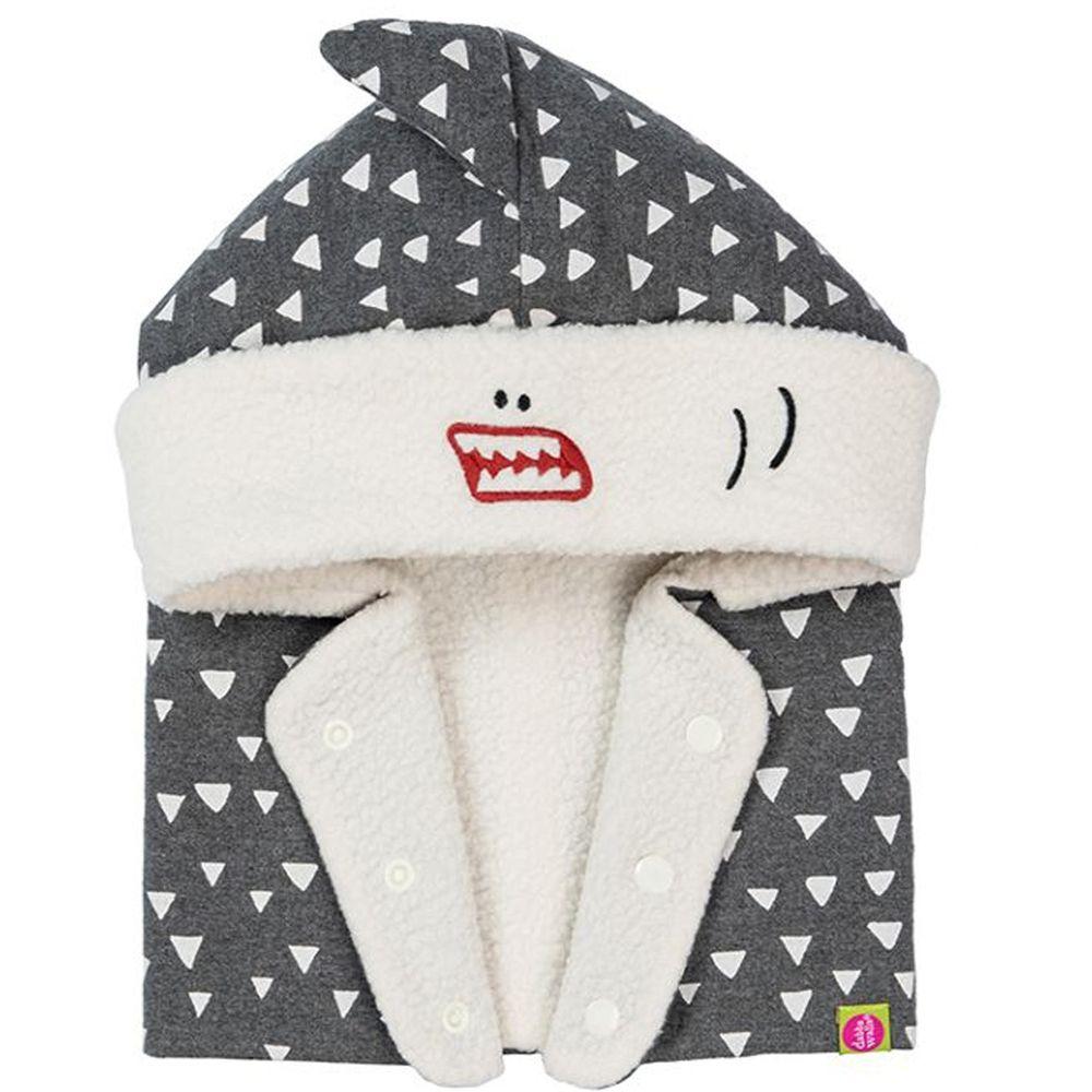 Dabbakids - 瓦拉帽-兒童造型圍脖帽-深海鯊魚