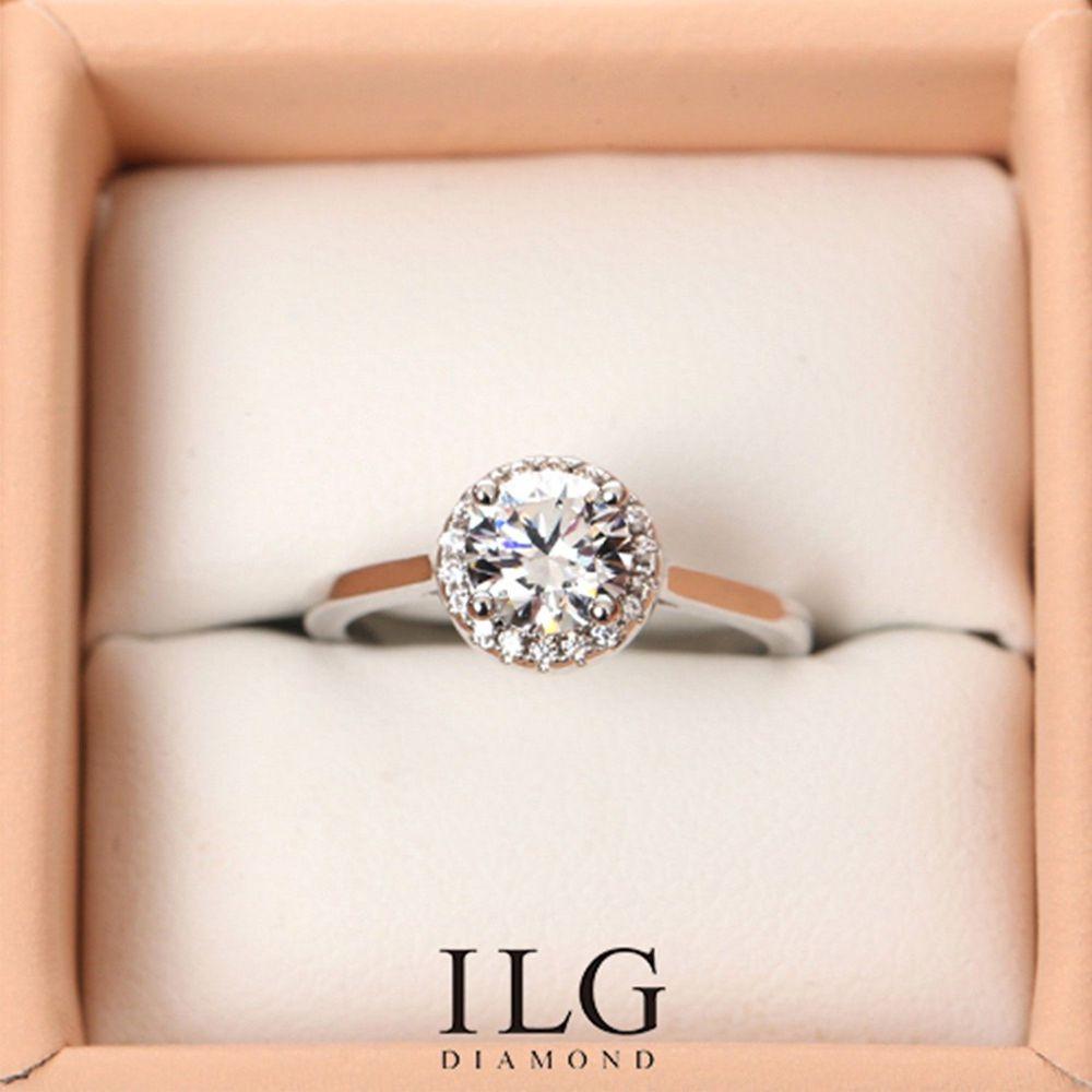 美國ILG鑽飾 - 0.75克拉 雅典花園-鑽飾第一品牌 唯一永久保固鑽體的名譽商家【Ri128】-加贈高級珠寶級絨布盒1個-外國抗敏材質電鍍頂級白K金色