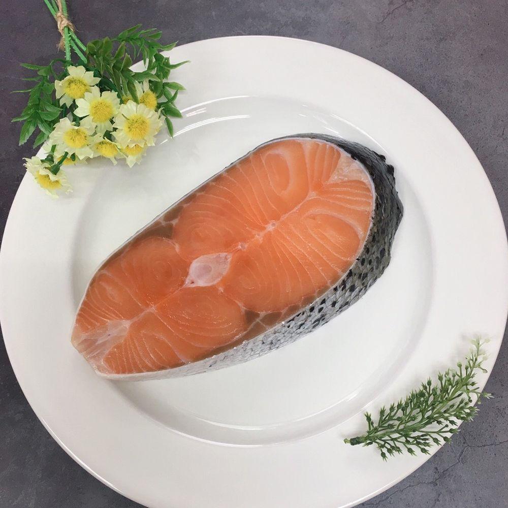 Camaron卡馬龍 - 嚴選-智利極凍厚切鮭魚(小) 300公克/片