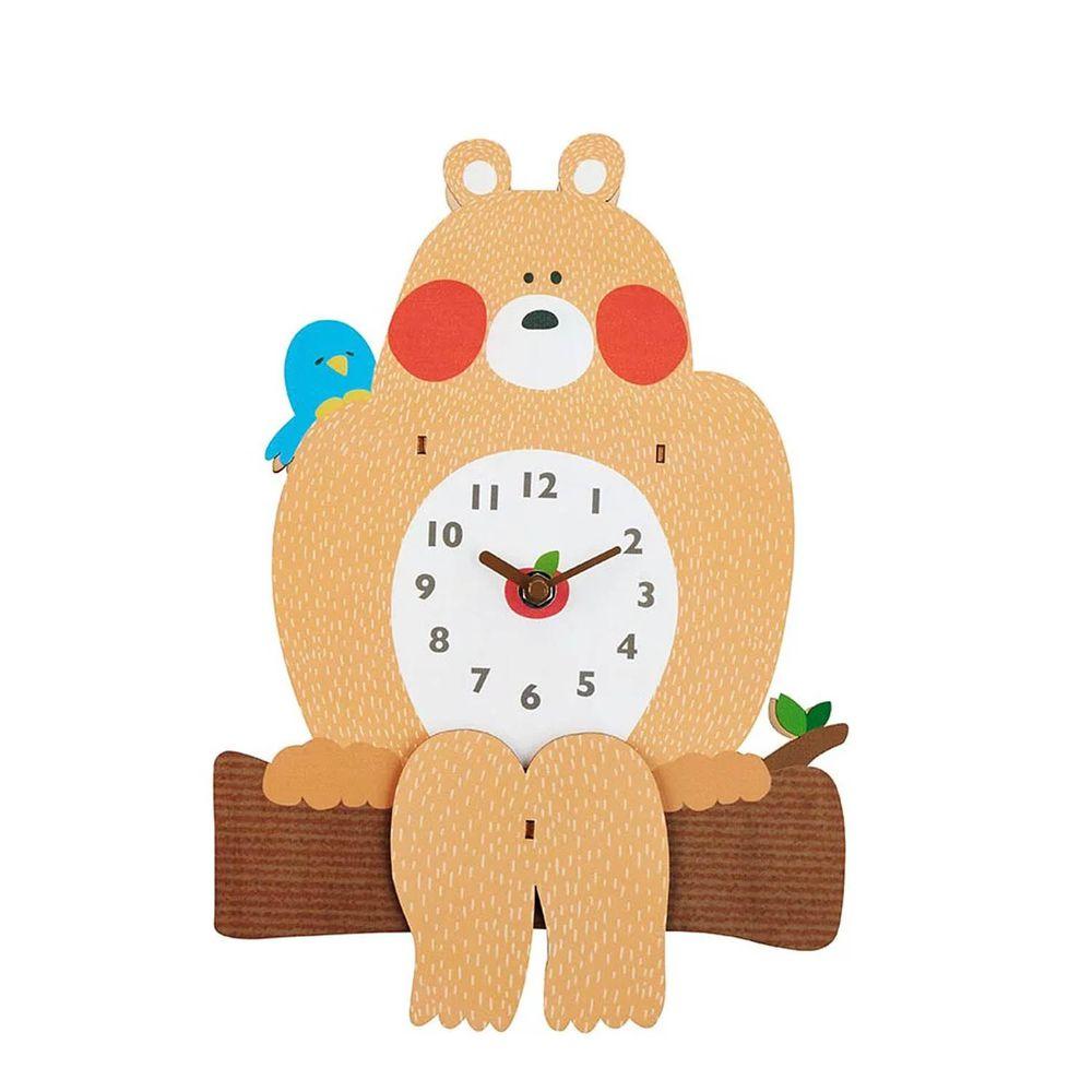 KINYO - 小鳥熊熊搖擺鐘 (32.4x22.7x6.5cm)-MCL3458