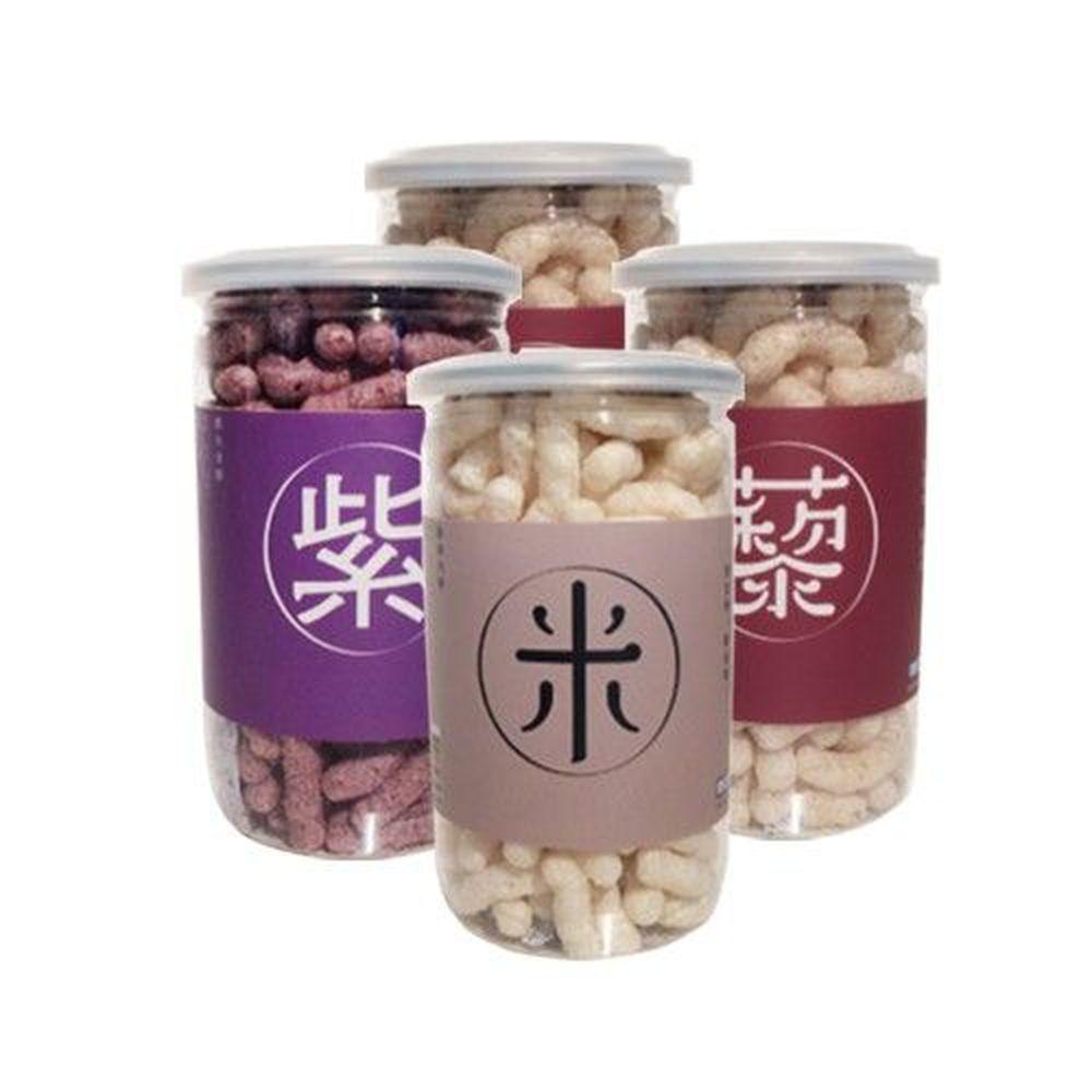 Let's Saga - 寶寶米餅買四件組-紅藜麥*2+紫米*1+原味*1-35g/罐*4