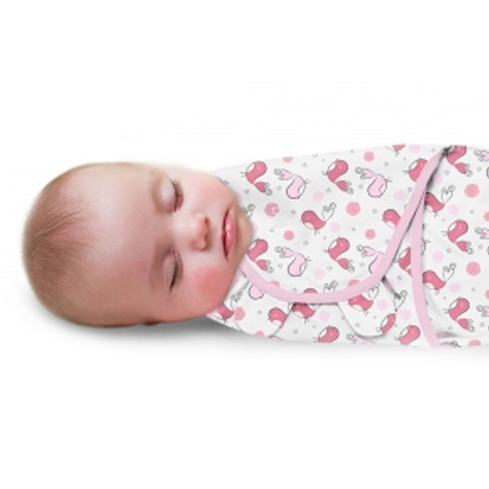 Summer Infant - 聰明懶人育兒包巾2入組-浪漫粉鵲-適用年齡:0~3個月