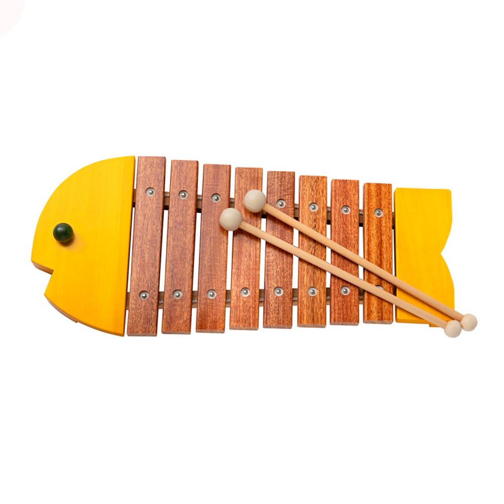 akachan honpo - 小魚形狀木琴-黃色