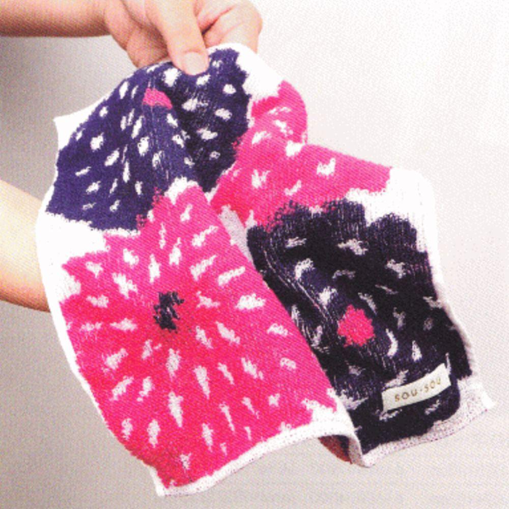 日本代購 - 【SOU·SOU】日本製今治純棉方巾-天竺牡丹 (25x25cm)
