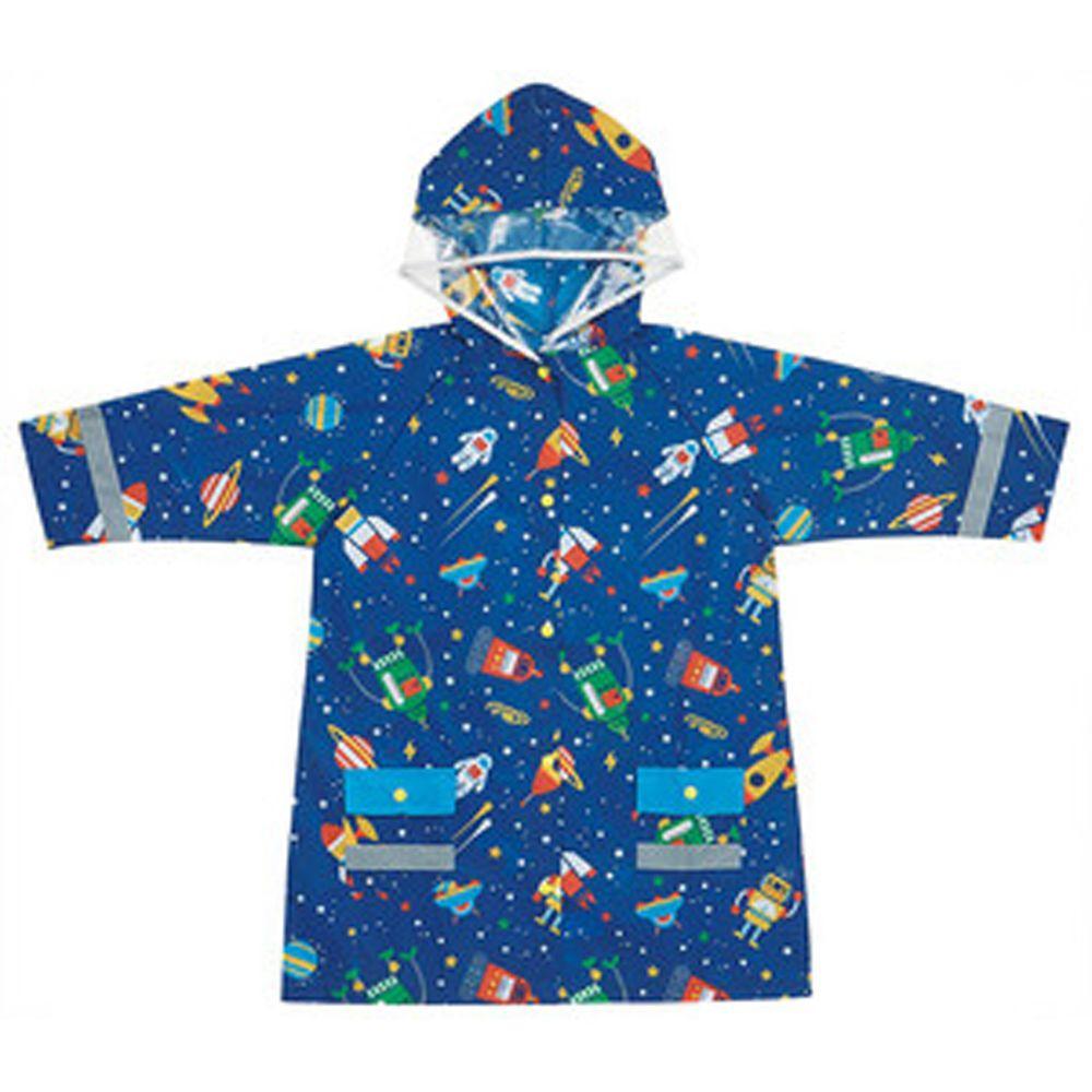 日本 SKATER 代購 - 兒童雨衣(附安全反光貼條)-宇宙機器人 (110~125cm通用)