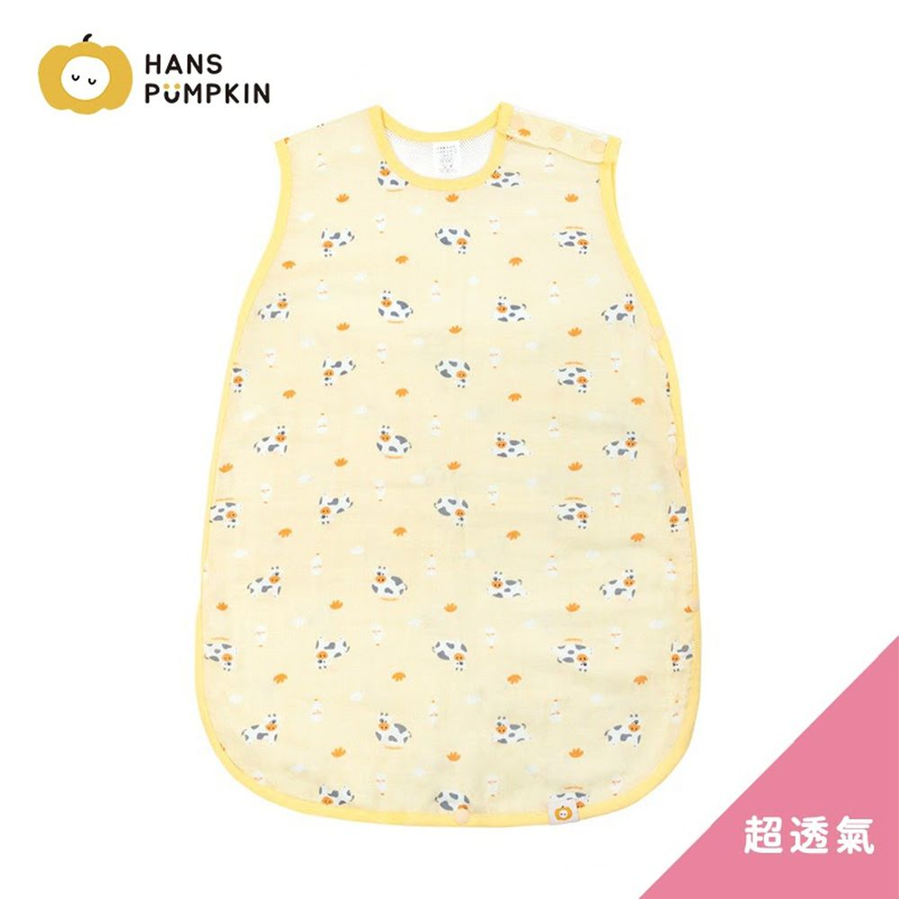 Han's Pumpkin - 超透氣純棉二層紗防踢被-萌萌小牛