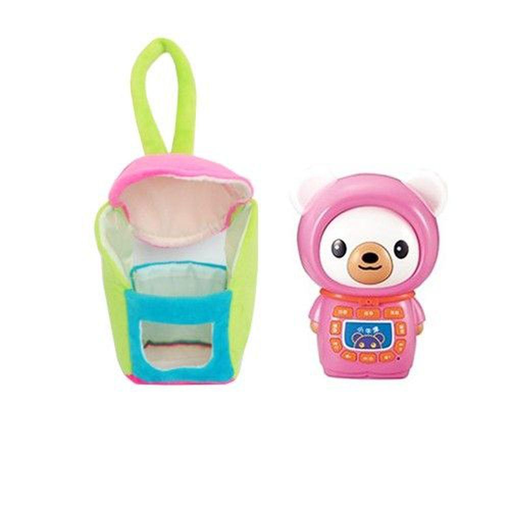 小牛津 - 【福利品】小牛津帽T熊故事機+粉紅春裝暖暖衣超值組-粉
