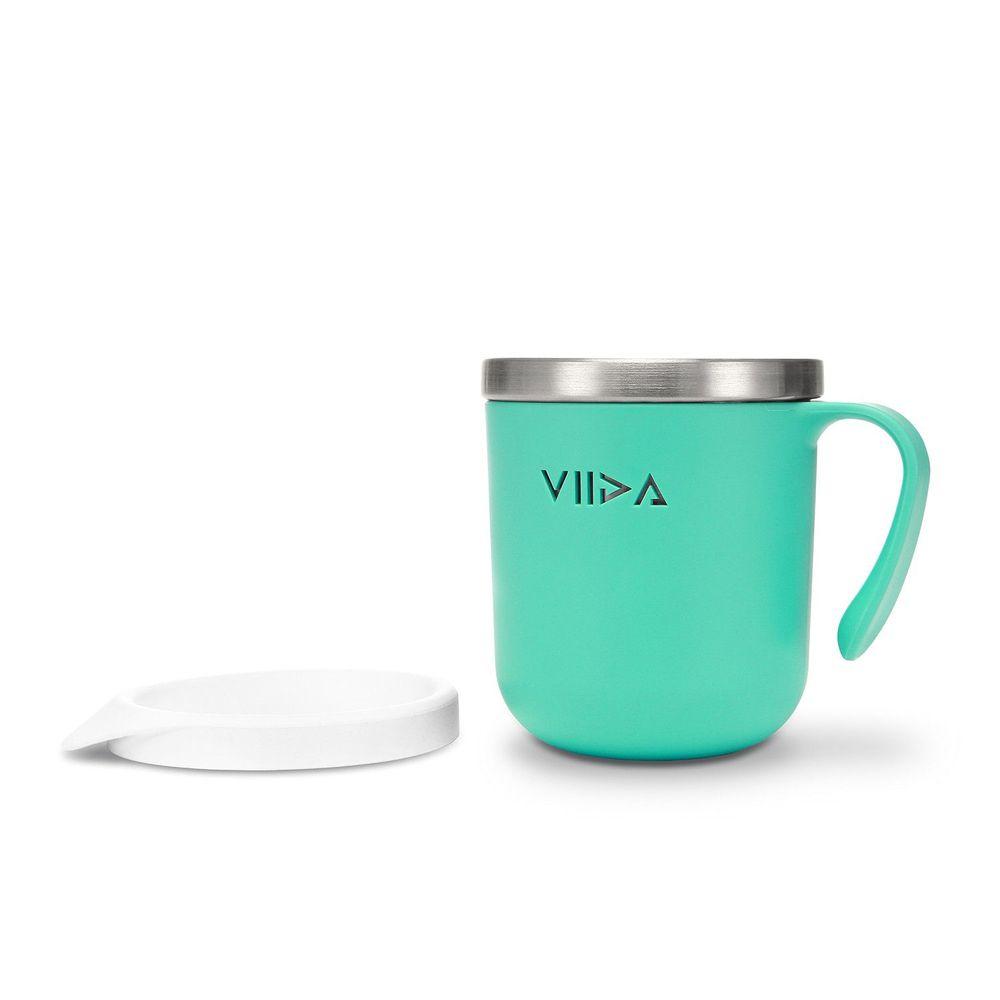 VIIDA - Soufflé抗菌不鏽鋼兒童餐杯-杯子-綠
