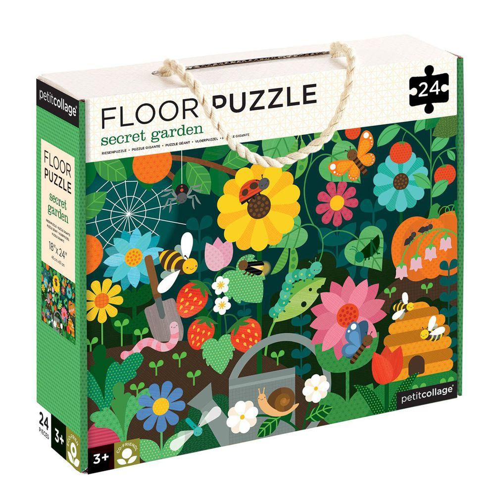 美國 Petit Collage - 地板拼圖-可愛花圃