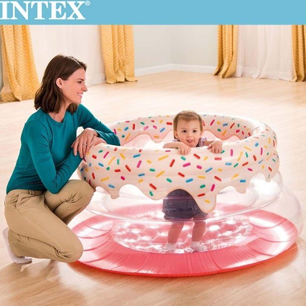 INTEX - 甜甜圈造型跳跳床/球池/遊戲床
