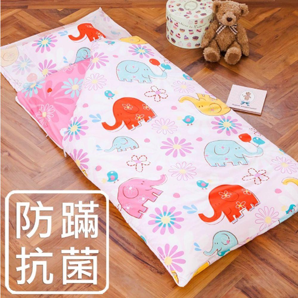 鴻宇 HONGYEW - 防螨抗菌100%美國棉鋪棉兩用兒童睡袋-心心象印-1851