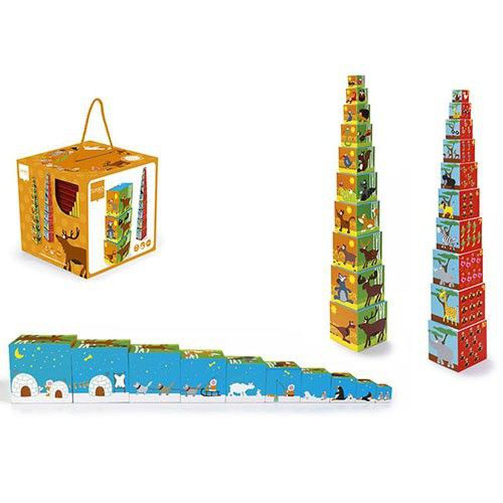 比利時 Scratch - 拼圖方塊盒-動物王國-10個方塊盒