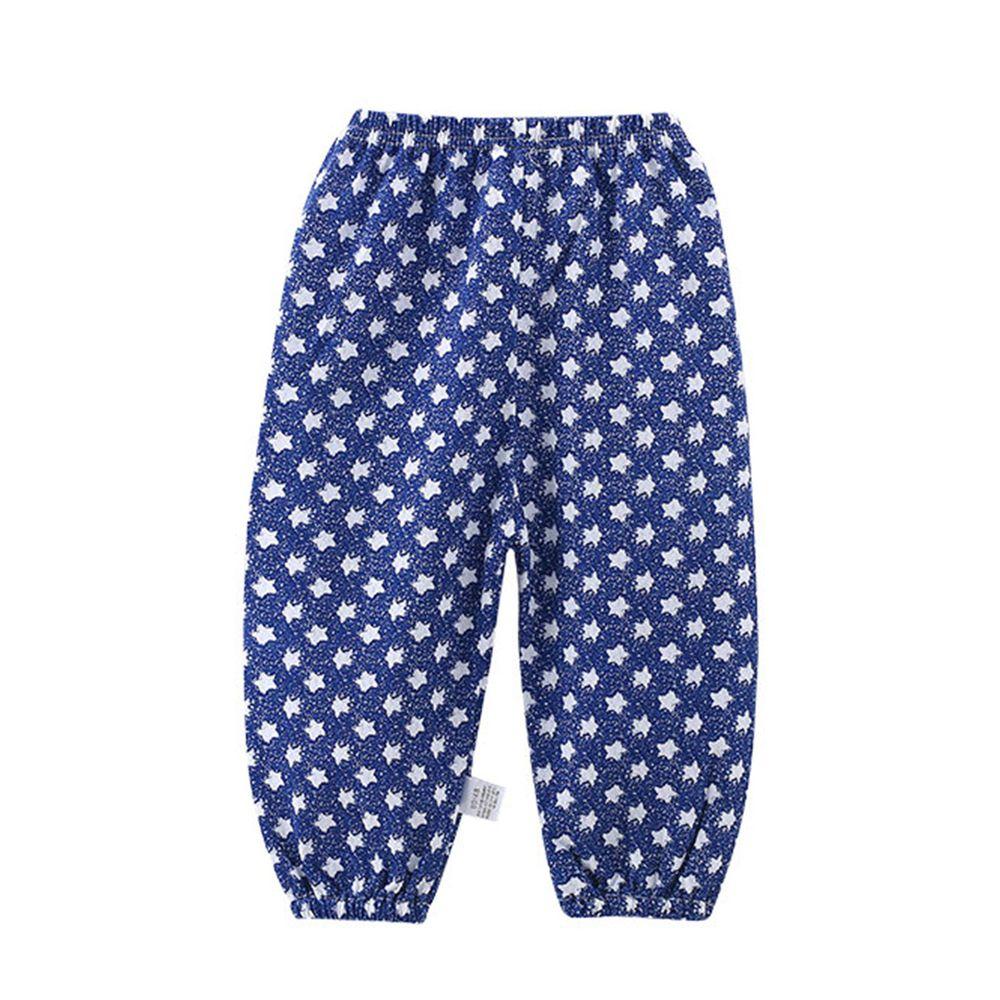 ZIHOU - 純棉網眼防蚊褲-藍色星星