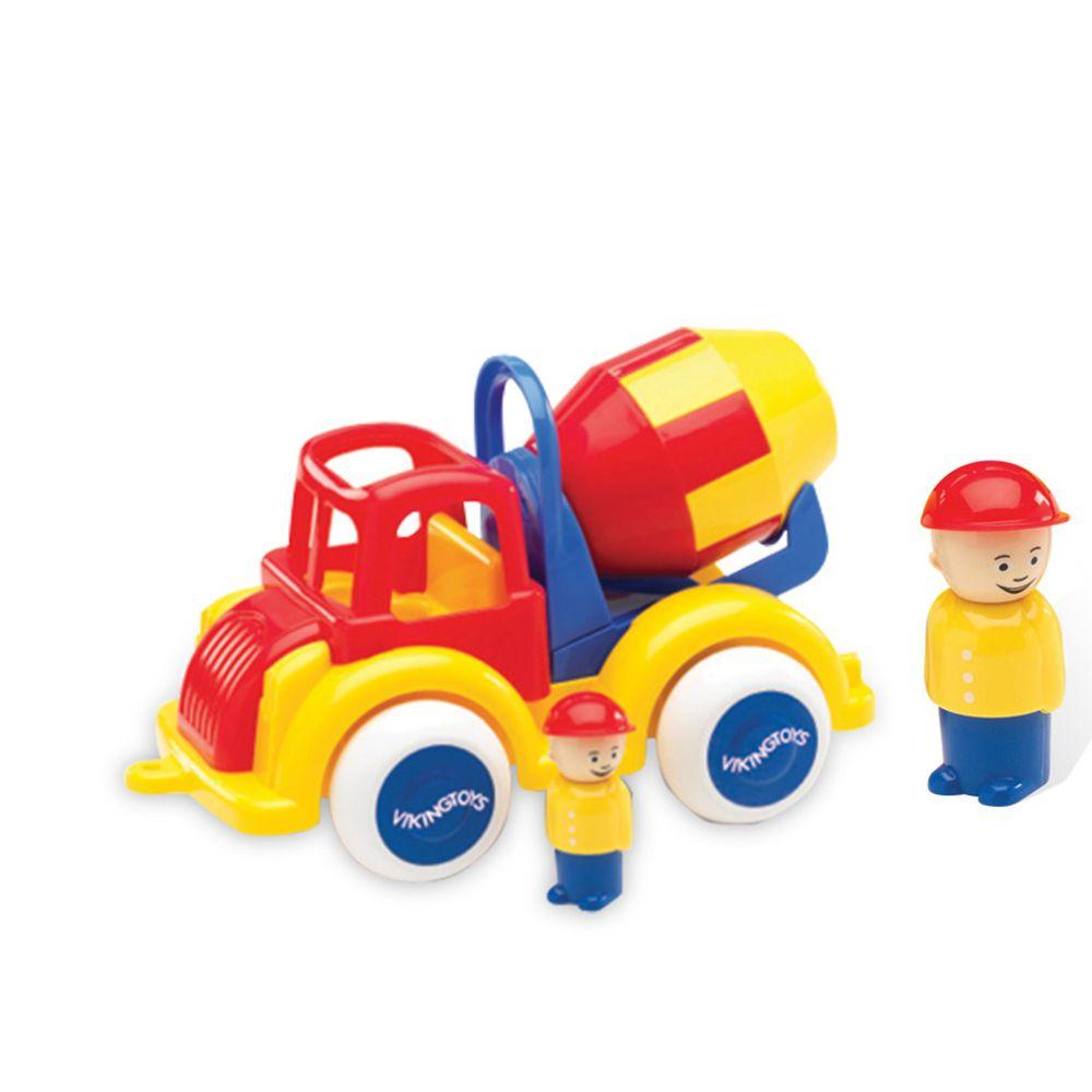 瑞典Viking toys - Jumbo水泥車(含2隻人偶)-28cm