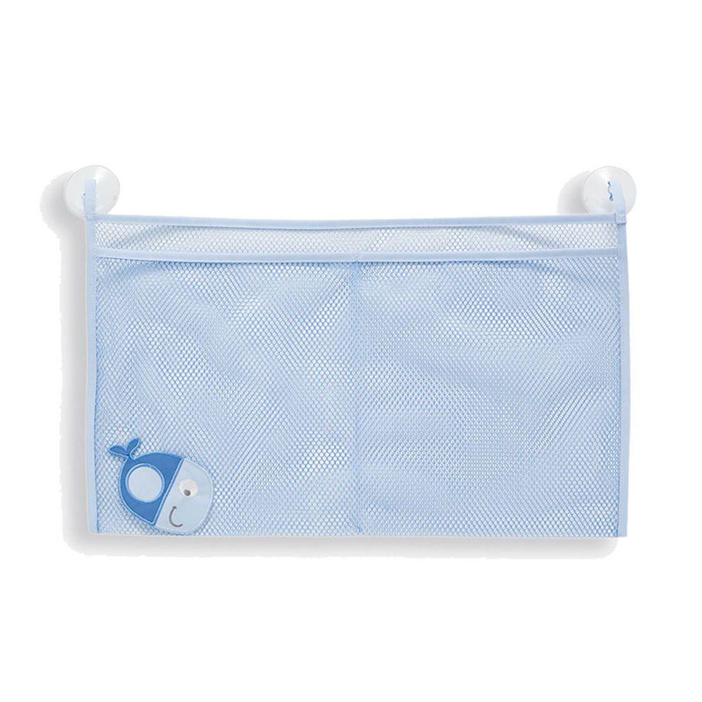 英國 JoJo Maman BeBe - 嬰幼兒沐浴/洗澡/戲水收納袋-藍色小魚