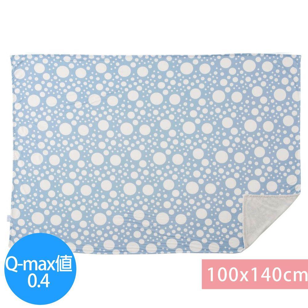 日本小泉 - 節電對策冷感薄毯-波點-水藍 (100x140cm)