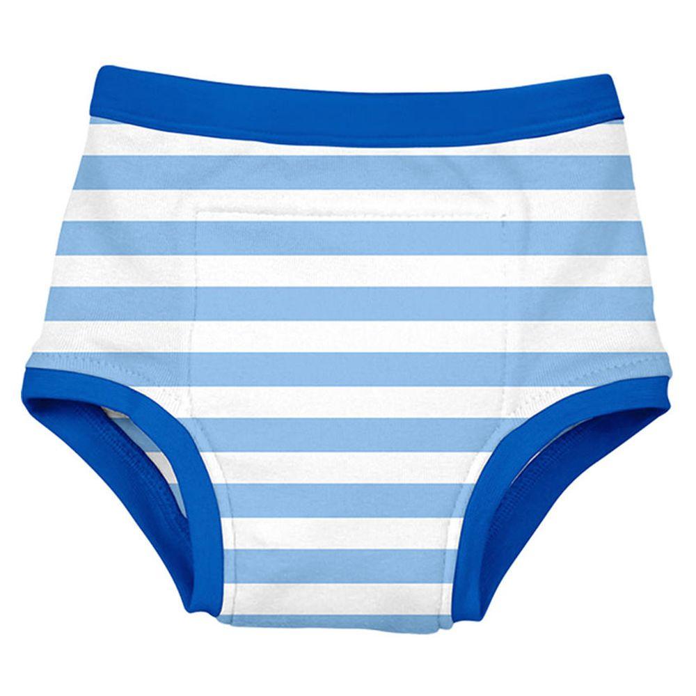 美國 green sprouts - 四層學習褲單入組-藍白線條