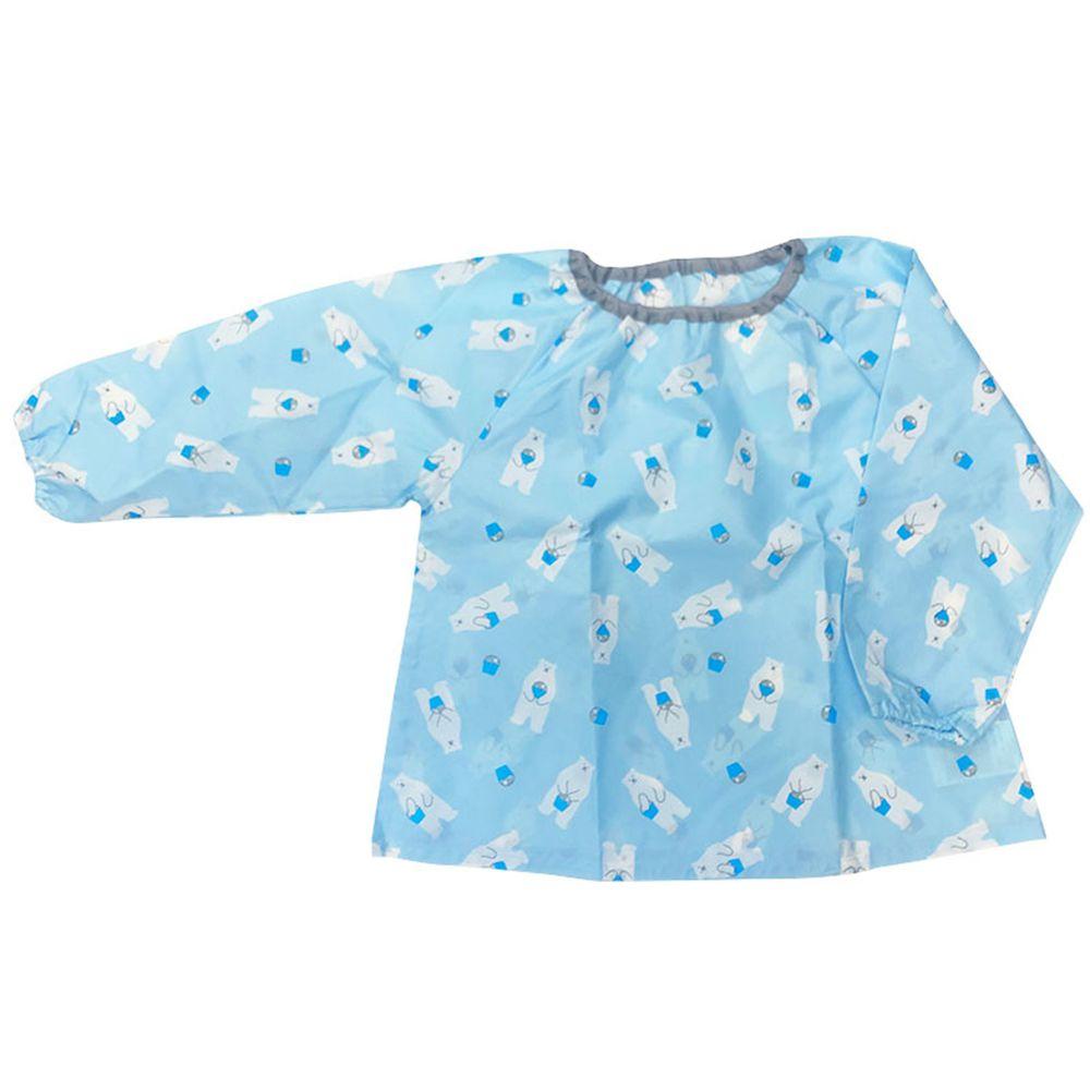 akachan honpo - 防髒衣-白熊-淺藍色