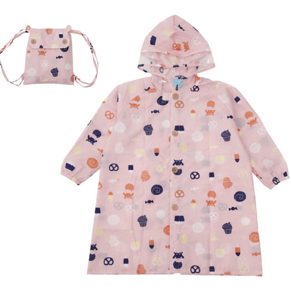 日本 kukka hippo - 小童雨衣(附收納袋)-點心時間
