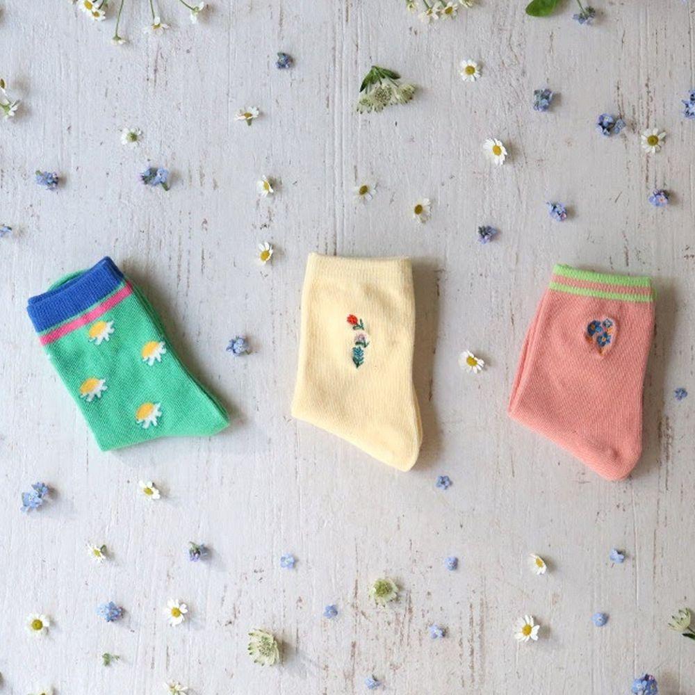 韓國 Kokacharm - 韓國製踝襪-MELODY-三件組