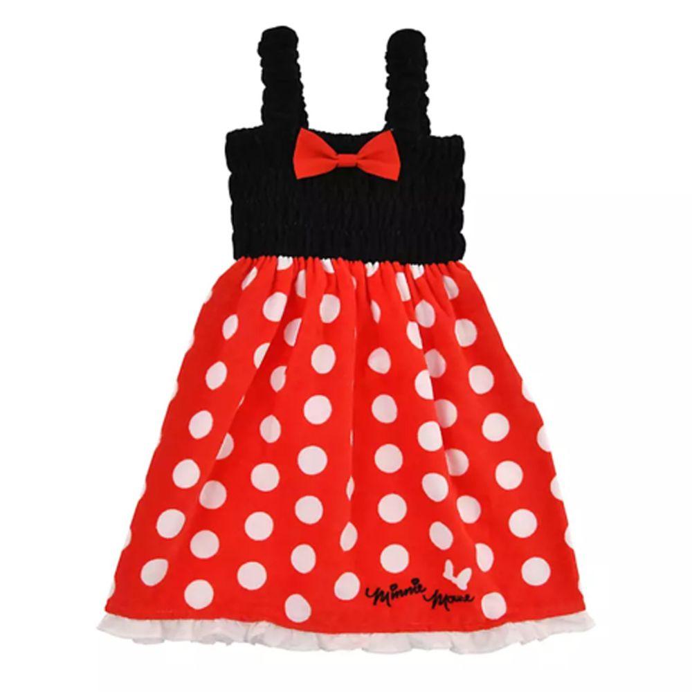 日本服飾代購 - 迪士尼公主造型浴巾/浴袍-米妮-紅點點 (身高105~115cm)