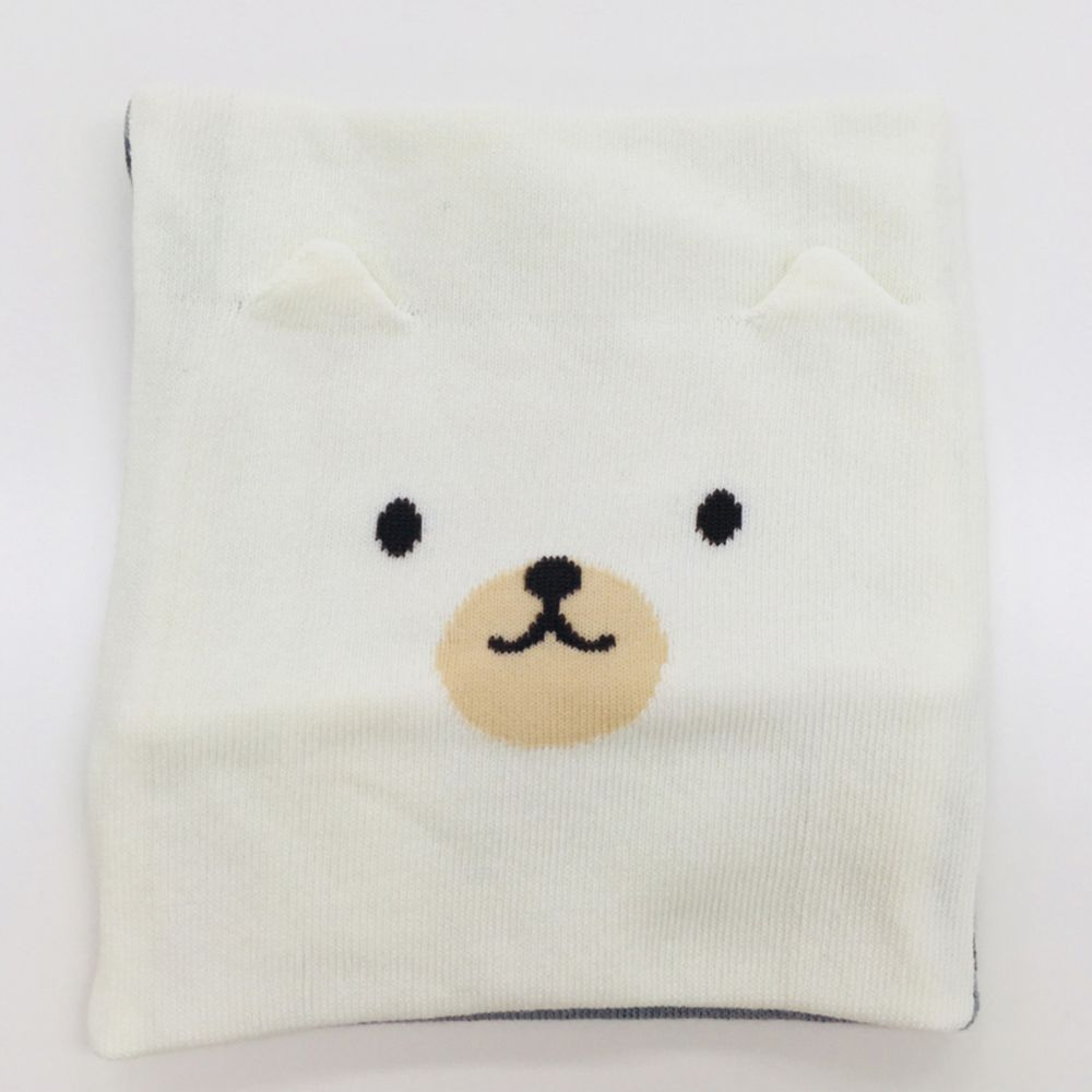 akachan honpo - 肚圍-羅紋針織款-小熊 灰色 (80~95cm)