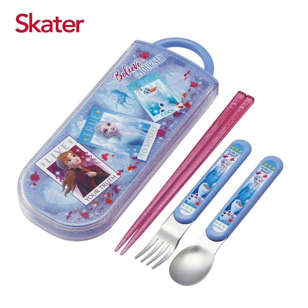 日本 SKATER - 三件式餐具組-冰雪奇緣Movie