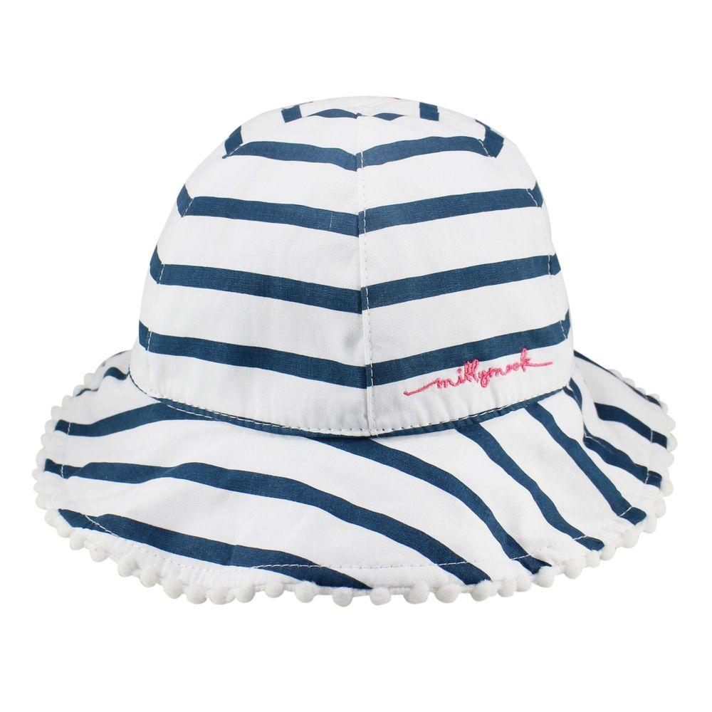 Millymook & Dozer - 海洋風藍白條紋漁夫帽 (L:頭圍48cm(6-18M))