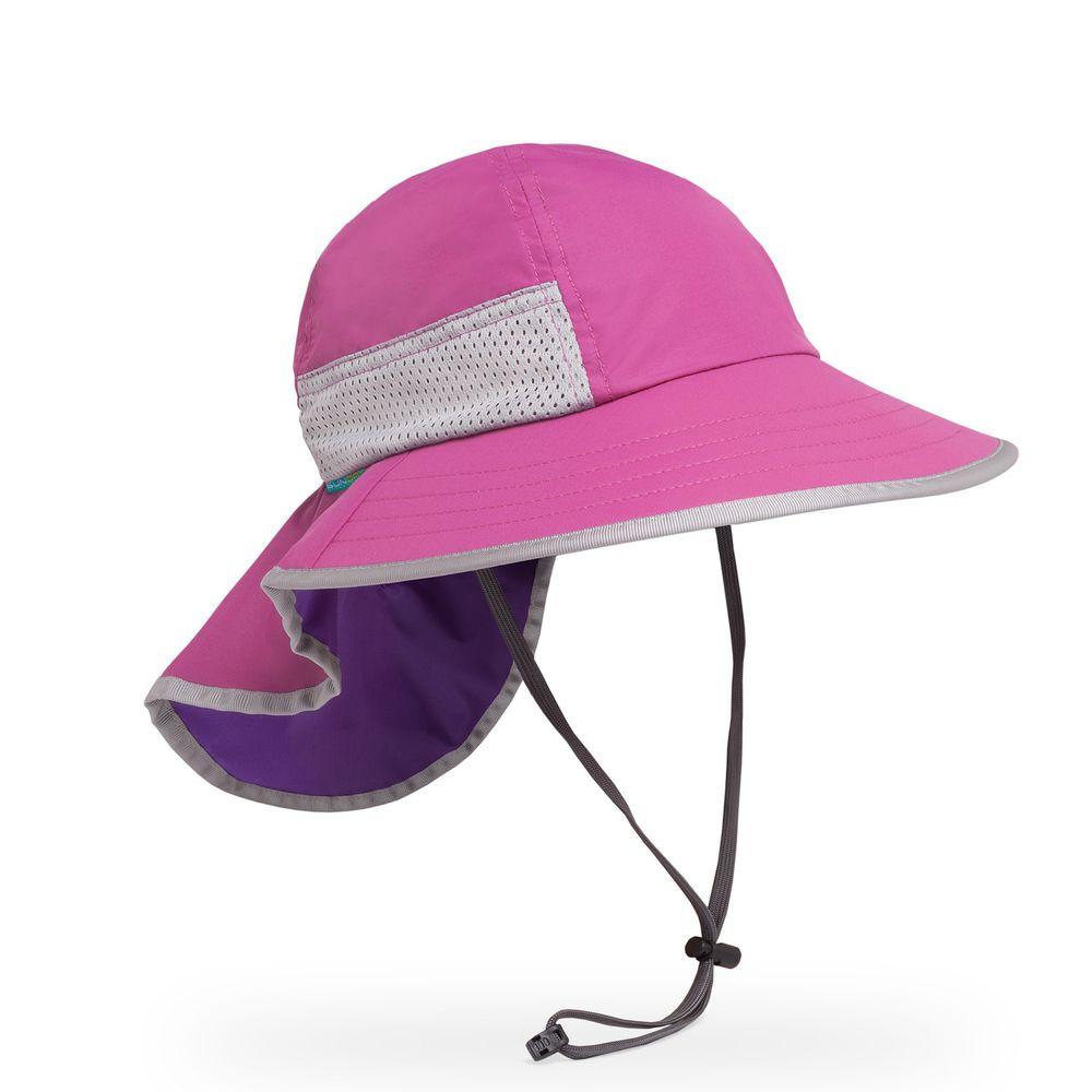 Sunday Afternoons - 兒童防曬帽-兒童抗UV防潑透氣護頸帽Kids Play Hat-紫紅