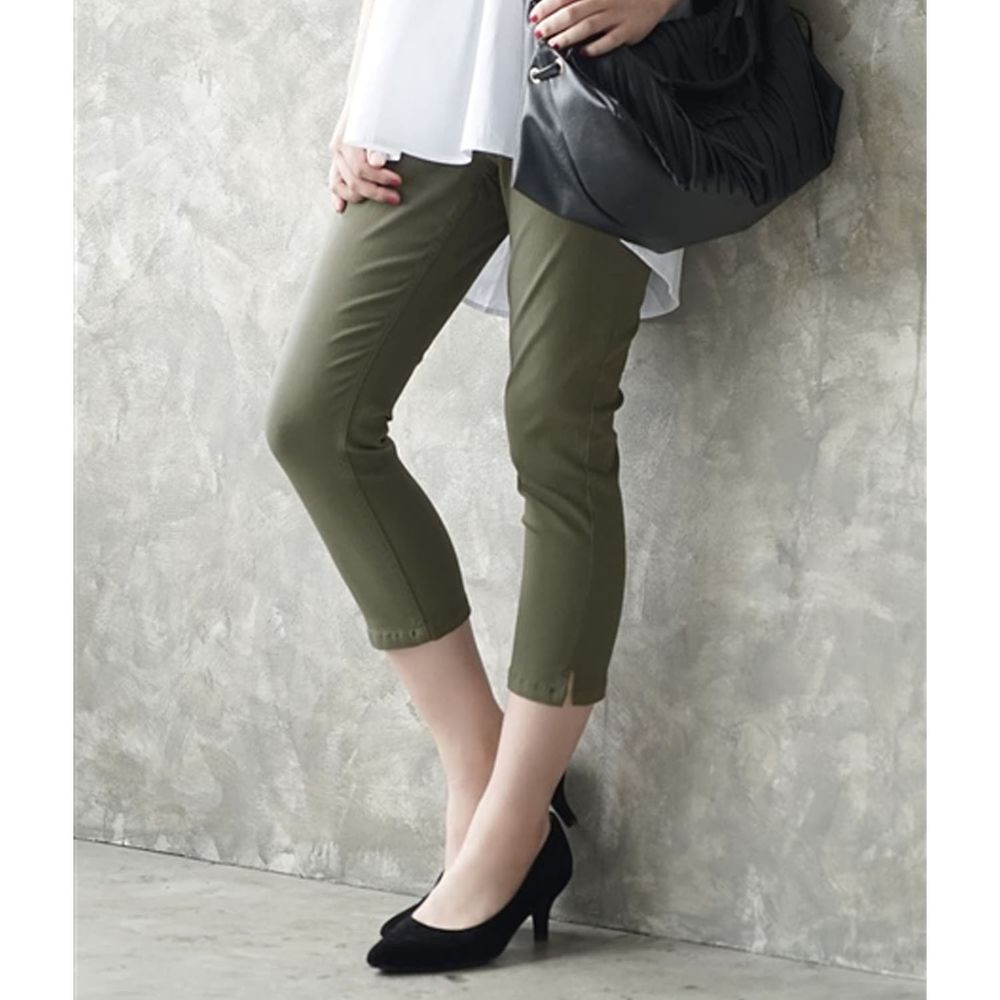 日本 zootie - Air Pants 輕薄彈性修身七分褲-墨綠