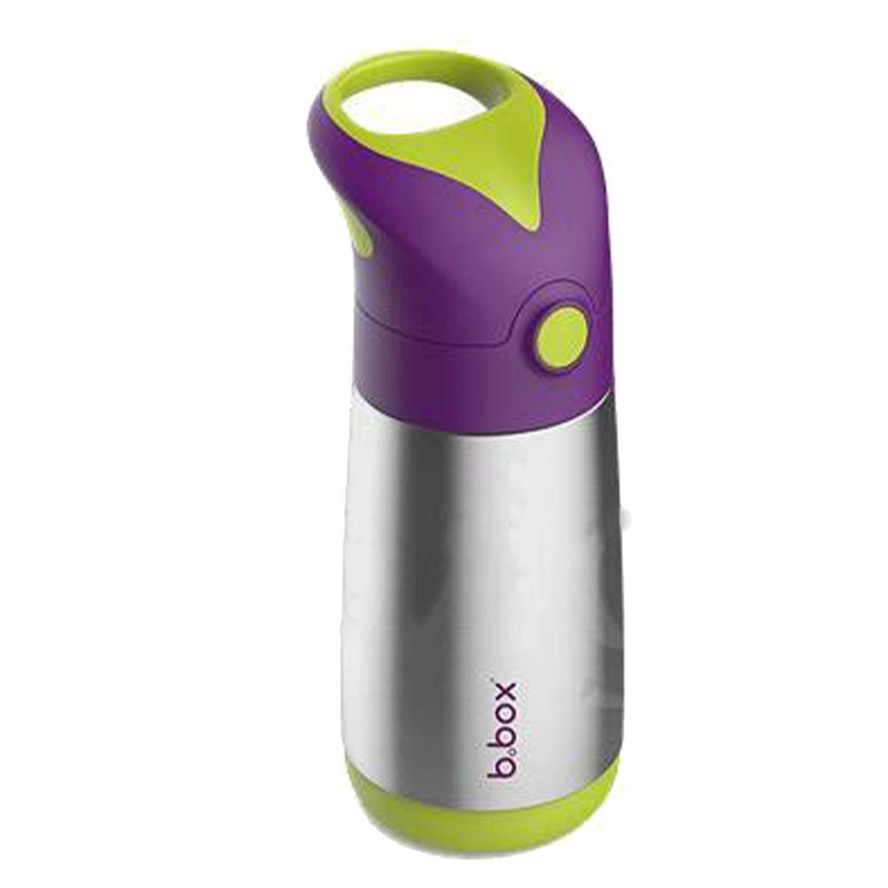 澳洲 b.box - 不鏽鋼吸管保冷杯-葡萄紫-350ml