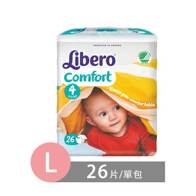 麗貝樂 Libero - 黏貼式嬰兒紙尿褲-4號 (L [7~11kg])-26片/包