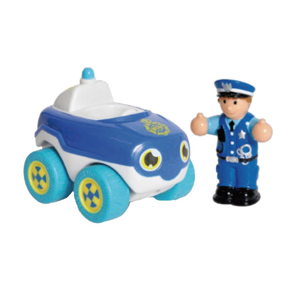 英國驚奇玩具 WOW Toys - 驚奇隨身迷你車-巴比-警車