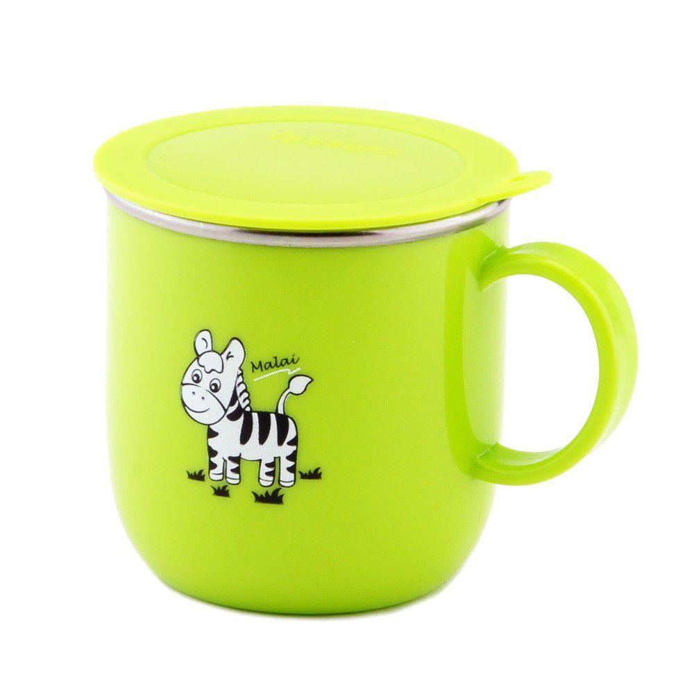 ZEBRA 斑馬 - 兒童304 馬克杯(附蓋)-綠色 (7CM)-250CC