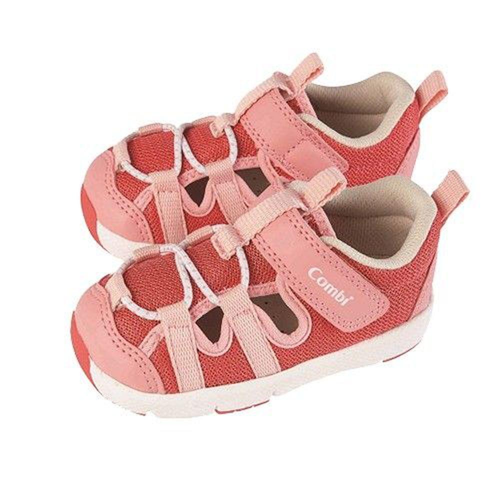 日本 Combi - 幼兒機能涼鞋-太空漫步-流星粉