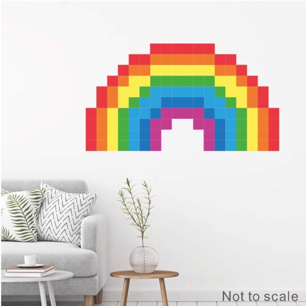 Kiss貼貼 - Kiss貼貼靜電無痕拼圖貼貼 (彩虹)-5 X 5cm 每包136張拼圖貼