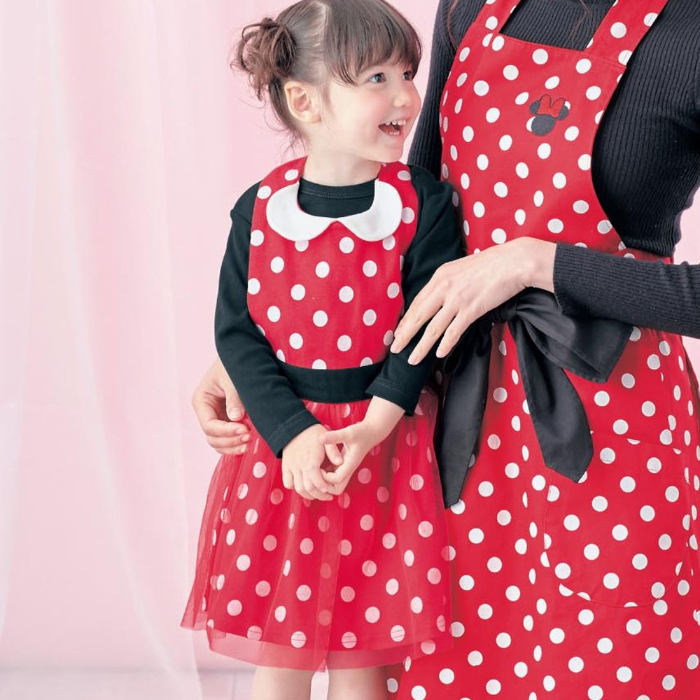 日本千趣會 - 迪士尼公主圍裙式洋裝-米妮點點