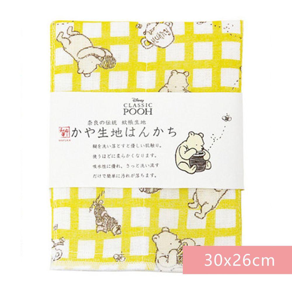日本代購 - 【和布華】日本製奈良五重紗 手帕-格紋維尼 (30x26cm)