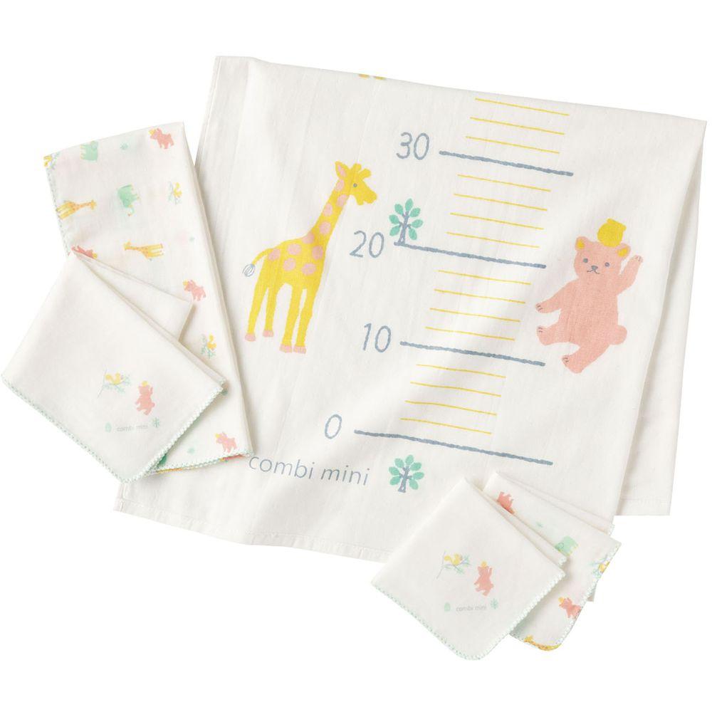 日本 Combi - 身高尺沐浴巾組-動物園 (F)