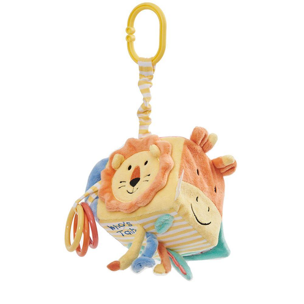 英國 JoJo Maman BeBe - 嬰兒床/推車安撫玩具_布玩系列-誰的尾巴?