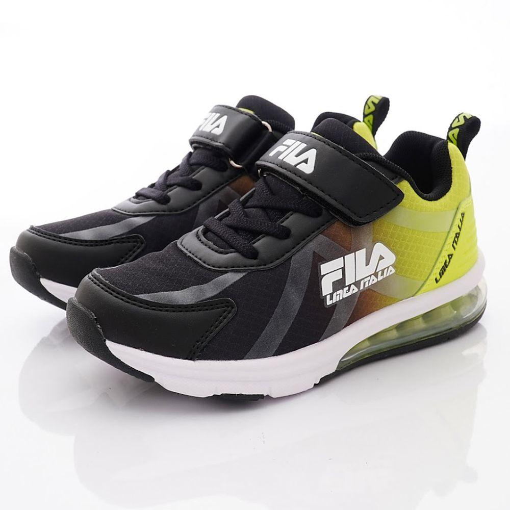 FILA - 氣墊漸層運動鞋款(中大童段)-黑綠