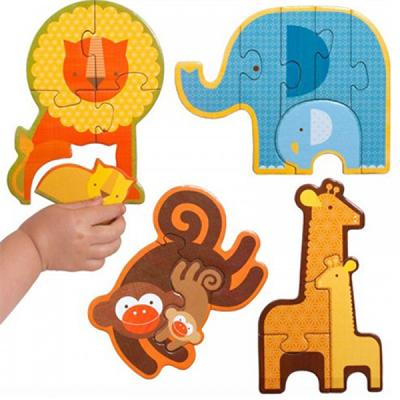 初階拼圖-野生動物-3、4、5及6片