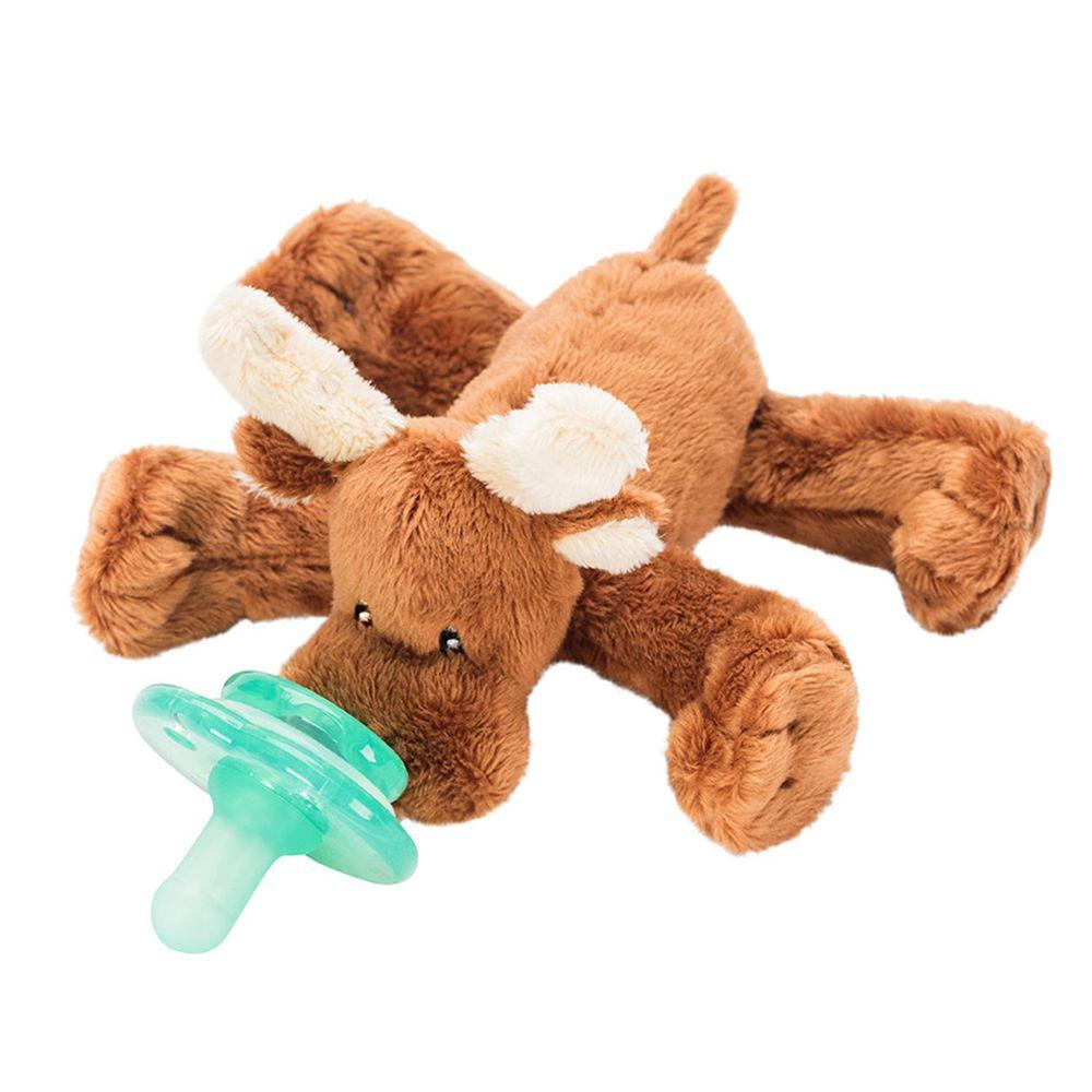 美國 nookums - 寶寶 可愛造型 安撫奶嘴 / 玩偶-小麋鹿